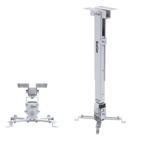 QualGear QG-PM-002-WHT Universal Projector Ceiling Mount White