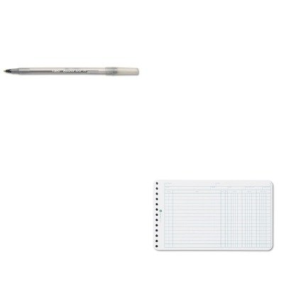 KITBICGSM11BKWLJ75850 - Value Kit - Wilson Jones Extra Sheets for Six-Ring Ledger Binder WLJ75850 and BIC Round Stic Ballpoint Stick Pen BICGSM11BK