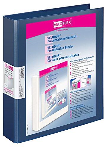 Veloflex VELODUR Presentation Ring Binder Polypropylene PP Blue A4