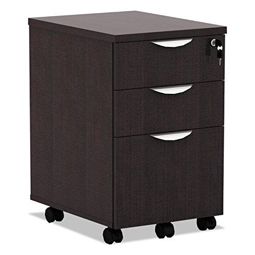 Alera Valencia Mobile BoxBoxFile Pedestal File 15 78 x 20 12 x 28 38 Espresso