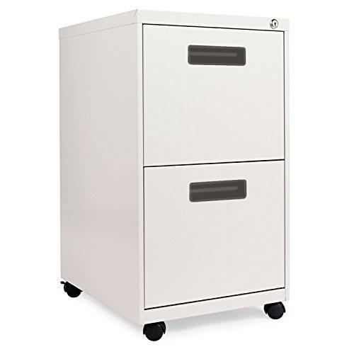 New - Two-Drawer Mobile Pedestal File 15-78w x 19-34d x 28-14h Light Gray by Alera