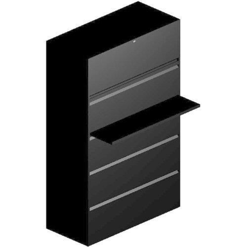 HON 800 Series Full-Pull Locking Lateral File - 42 x 193 x 67 - 5 - Black