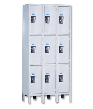 Hallowell Assembled - Triple Tier Locker Three Wide Silent3T3W121524A Opening Size Wxdxh 12 X 15 X 24 Number Of Openings 9 Color Beige Uy3258-3A