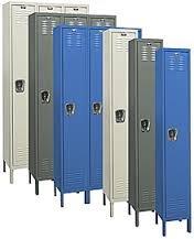 Hallowell List Industries Single Tier 3 Wide Assembled Locker Vm1T-3Fsu Size 36W X 18D X 78 Desc Assembled Color Marine Blue U3288-1A