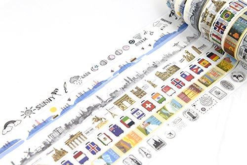 Travel Scenery Theme washi tape weather travel suitcase travel stamp postmark