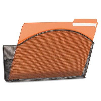 Onyx Steel Wall Pocket Letter Black 12 x 3 x 9 Sold as 1 Each