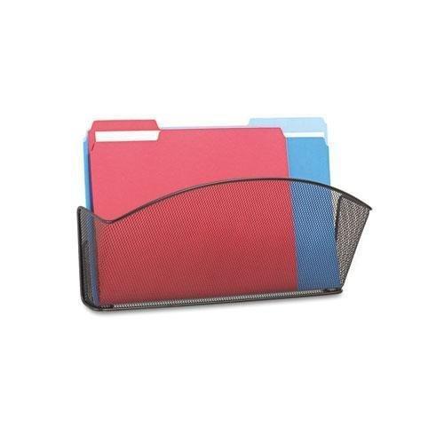 SAFCO 5653BL Onyx Steel Wall Pocket Legal Black 15 x 3 x 9