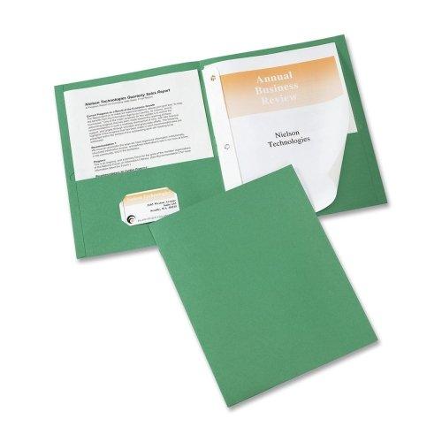Wholesale CASE of 15 - Avery 2-Pocket Folders w Fasteners-2-Pocket Fldr w3-Prong Fstnr Ltr 20 Sht Cap 25BX GN