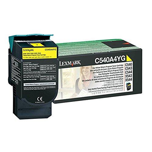 Lexmark X544 C540A4YG Yellow OEM Toner Standard Yield 1000 Yield