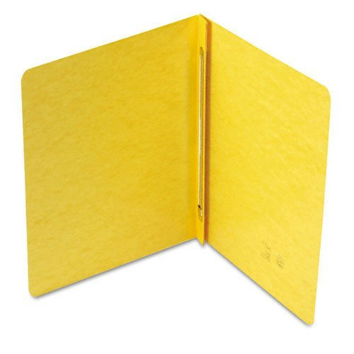 Smead Products - Smead - Side Opening PressGuard Report Cover Prong Fastener Letter Yellow - Sold As 1 Each - Ideal for monthly reports and presentations - Two-piece style cover compresses material tightly to reduce bulk -