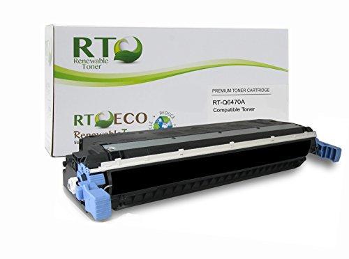 Renewable Toner Compatible Toner Cartridge Replacement for HP 501A Q6470A Color Laserjet 3600 3800 CP3505 Black