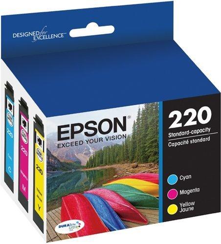 2 X Epson DURABrite Ultra Standard-Capacity Ink Cartridge Color Multipack T220520