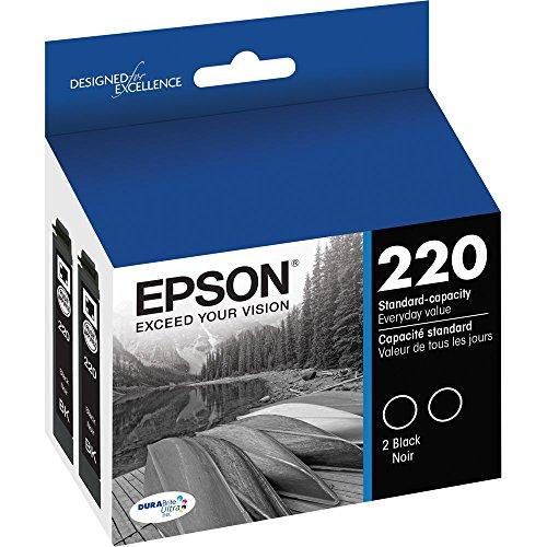 3 X Epson DURABrite Ultra Black Dual-Pack Ink Stnd-cap Ink T220120-D2