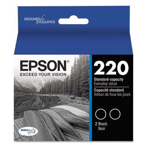 5 X Epson DURABrite Ultra Black Dual-Pack Ink Stnd-cap Ink T220120-D2
