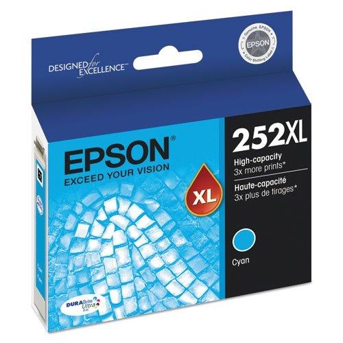 Epson DURABrite Ultra 252XL Ink Cartridge - Cyan T252XL220