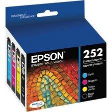 Epson DURABrite Ultra Ink T252 Ink Cartridge - Cyan Black Magenta Yellow
