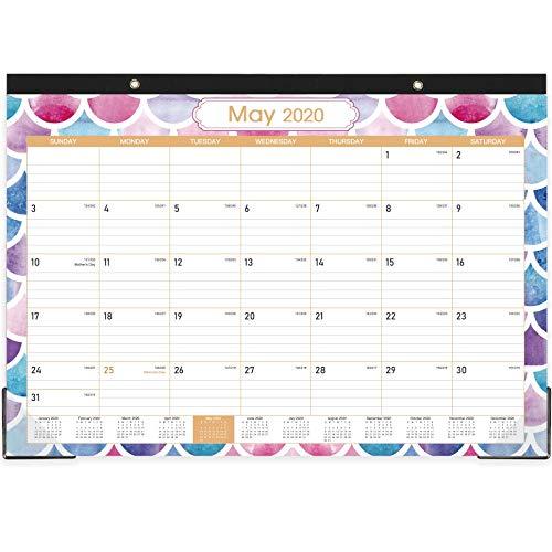 2020-2021 Desk Calendar - 18 Months DeskWall Calendar 17 x 12 Large Monthly Desk Calendar Jan 2020 - June 2021 Large Ruled Blocks Tear Off Best Desk Calendar for Planning and Organizing