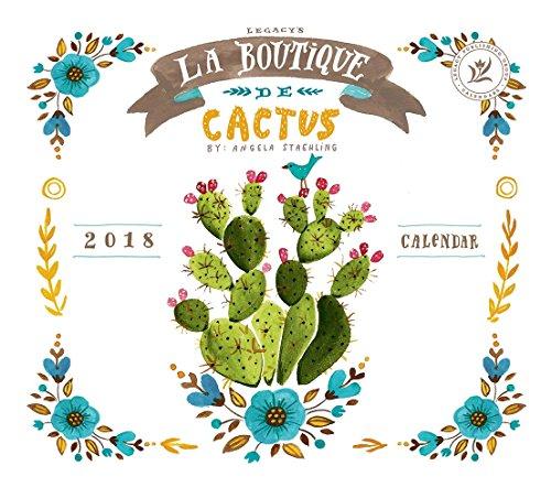 Legacy Publishing Group 2018 12-Month Wall Calendar La Boutique De Cactus