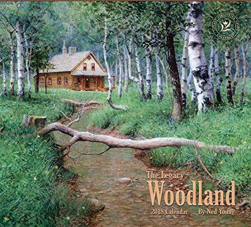Legacy Publishing Group 2018 12-Month Wall Calendar Woodland Calendar