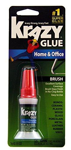 Krazy Glue KG94548R Instant Crazy Glue Home Office Brush 018-Ounce