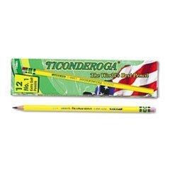 Ticonderoga Yellow Pencil No1 Extra Soft Lead Dozen DIX13881 2-Pack
