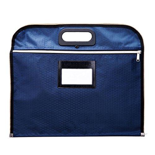Durable Waterproof Canvas Envelope Zipper File Holder Handbag Double-layer A4 Document Data Storage Container Organizer Travel Business Portfolio Briefcase Tote Carrying Handbag