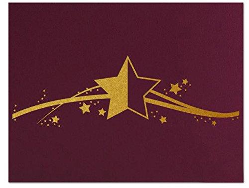 Successories 751555M Star Linen Certificate Folders Maroon