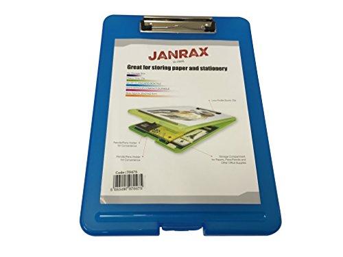 Janrax A4 Blue Clipboard Box File - Storage Filing Case