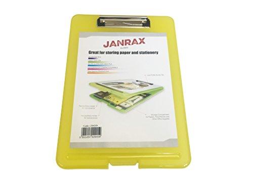 Janrax A4 Yellow Clipboard Box File - Storage Filing Case