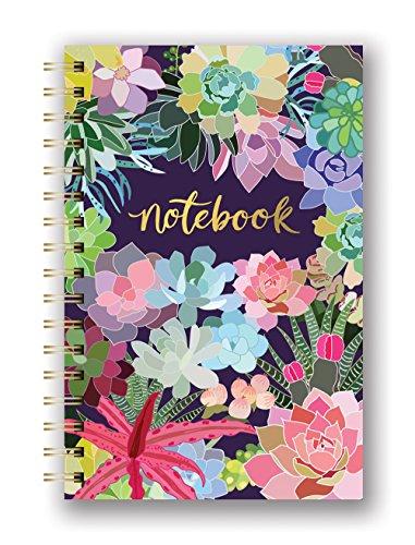 Studio Oh SJ003 Hardcover Spiral Notebook Succulent Paradise