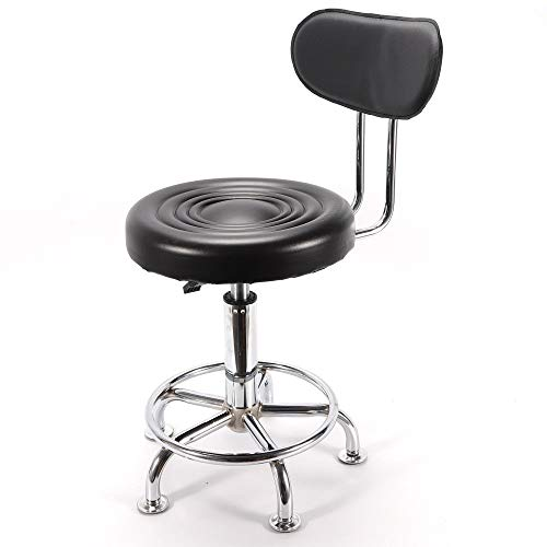 Adjustable Hydraulic Stool44-57cm Adjustable Work Shop Adjustable Stool Chair Hydraulic Lift Stool Swivel Chair USA Stock