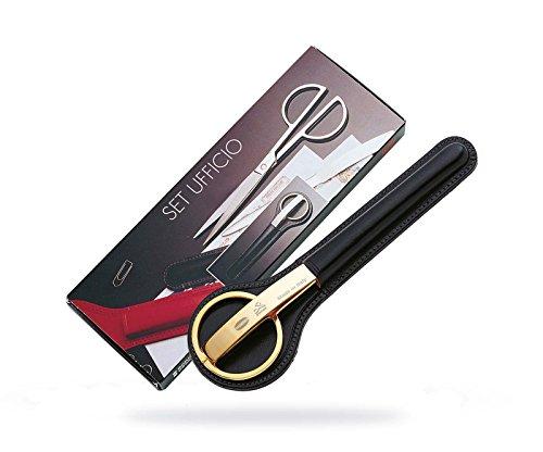 10486 - Desk Set - Paper Scissors  Letter opener - Gold Collection
