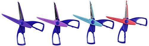 Darice 1198-85 4-Pack Big Value Paper Edging Craft Scissors
