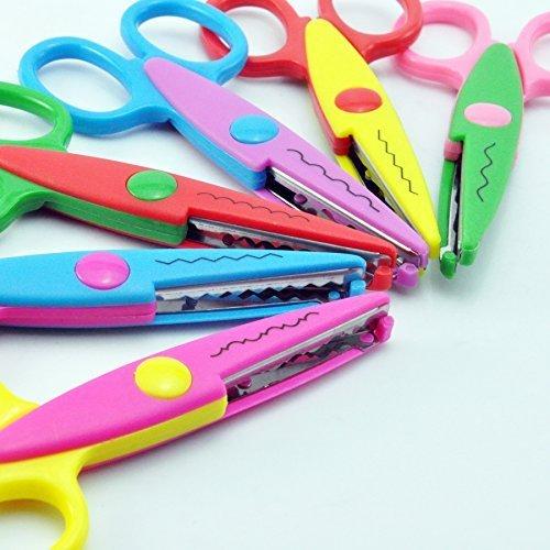 UCEC 6 Colorful Decorative Paper Edge Scissor Set Great for Teachers Crafts Scrapbooking Kids Design