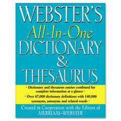 MERFSP0467 - Merriam Webster All-In-One DictionaryThesaurus