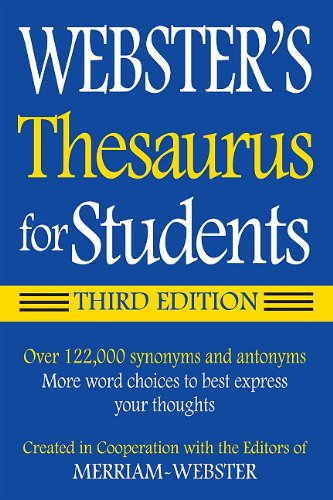 Websters Federal Street Press Thesaurus for Students 3rd Edition Paperback Grades 6 and Up 352 Pages