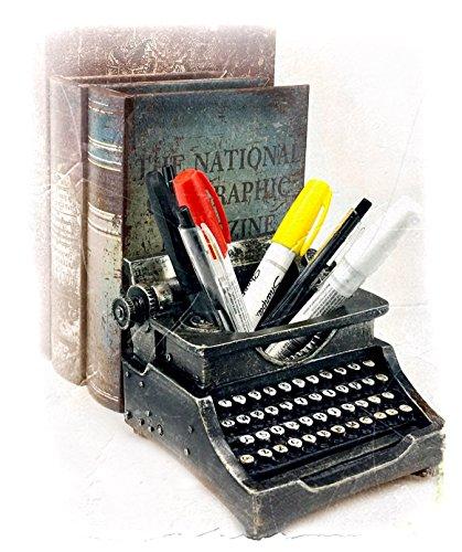 Typewriter Pen Holder Pencil Cup Writing Utensils Desktop Office Vintage Decor