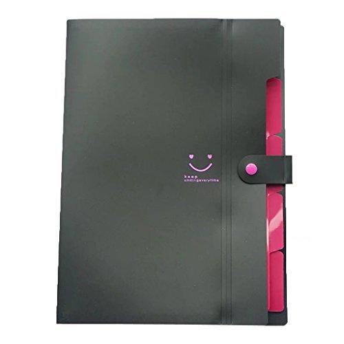 Expanding File Folder A4 Letter Document Filing Accordion Folders Office School Organizer 5 Pockets