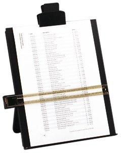 5 Star Desktop Copyholder with Line Guide Ruler A4 Black