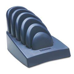 Kensington 62061 Insight Priority Puck Five-Slot Desktop Copyholder Plastic Dark BlueGray
