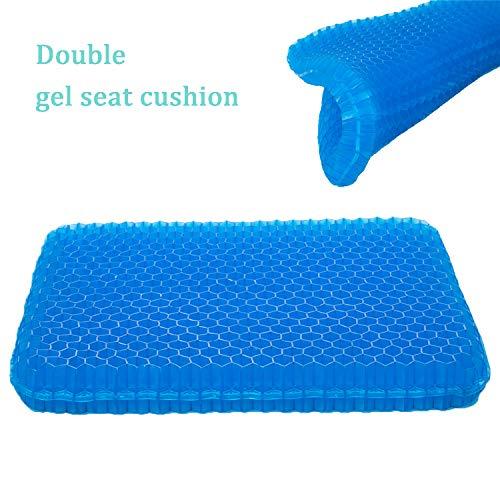 SESEAT Gel Seat Cushion Non Slip Cover Chair Cushion for Office Truck Driver Car Wheelchair Double Design Seat Cushion