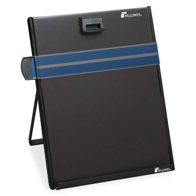 Fellowes Manufacturing 11053 Letter-Size Freestanding Desktop Copyholder Stainless Steel Black
