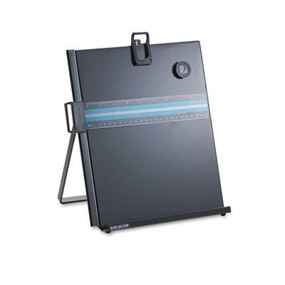 KMW 62046 Letter-Size Freestanding Desktop Copyholder Stainless Steel Black