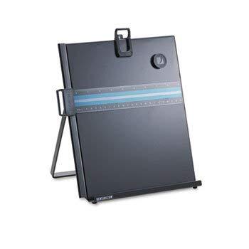 Letter-Size Freestanding Desktop Copyholder Stainless Steel Black