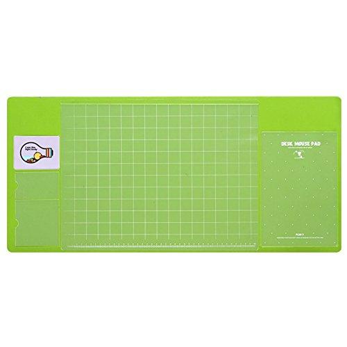 Shiningup Large Size Multifunctional Anti-slip Desk Mouse Mat Waterproof Desk Protector Mat Keyboard Pad with Pocket