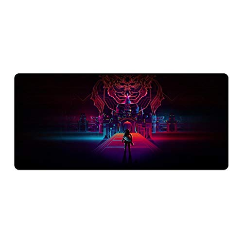 Extended Gaming Mouse MatPad - LargeDesk MatThe Legend of Zelda Colorful Sword Shield Link Ganondorf Ideal for Desk Cover Computer Keyboard PC and Laptop40cmx90cm