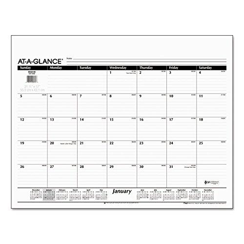 Desk Pad Refill 22 x 17 Jan-Dec 2017 12 Month