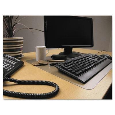 Floortex - 2 Pack - Desktex Polycarbonate Anti-Slip Desk Mat 22 X 17 Clear Product Category Desk Accessories Workspace OrganizersDesk Pads Refills