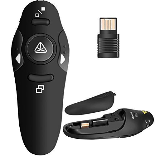 BEBONCOOL RF 24GHz Wireless Presenter Remote Presentation USB Control PowerPoint PPT Clicker