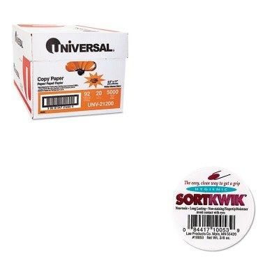 KITLEE10053UNV21200 - Value Kit - Lee Sortkwik Fingertip Moisteners LEE10053 and Universal Copy Paper UNV21200